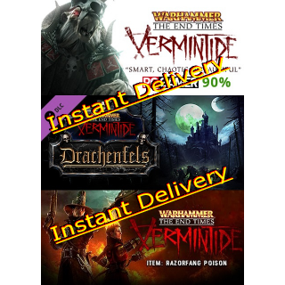 Warhammer: End Times - Vermintide & DLCs - Full Game - PC Steam Game - Region Free - Instant Delivery - RRP = $38.98