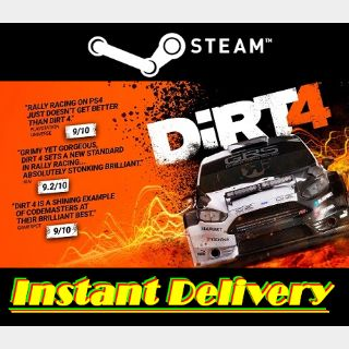 DiRT 4 - Steam Key - Region Free - Instant Delivery - RRP = $19.99