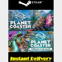 Planet Coaster & DLC - Steam Keys - Region Free - Instant Delivery - RRP = $55.98