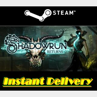 Shadowrun Returns - Steam Key - Region Free - Instant Delivery - RRP = $14.99