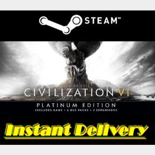 Sid Meier's Civilization VI: Platinum Edition - Steam Key - Instant Delivery