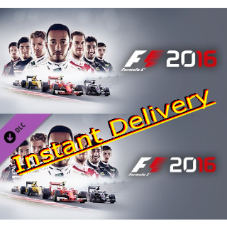 F1 2016 & DLC - Steam Key - Region Free - Instant Delivery - RRP = $61.98