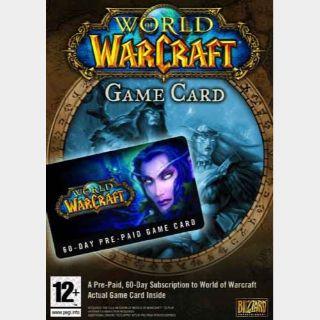 World of Warcraft Time Card 60 Days NORTH AMERICA Battle.net