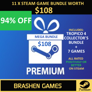 ⚡️ 11 x Steam Game Keys - Value $108 [INSTANT DELIVERY] [MEGA BUNDLE]
