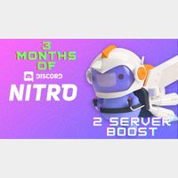⚡️ [INSTANT DELIVERY] Discord Nitro x3 Months