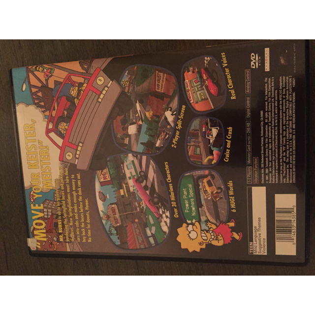 Simpsons Road Rage (Sony PlayStation 2, 2001) - PS2 Games