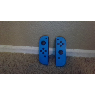 Nintendo switch joy con controllers left and right neon blue.