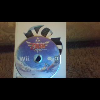The legend of zelda skyward sword Nintendo Wii.