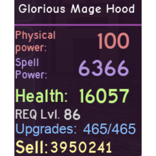 Other | Glorious Mage Hood DQ