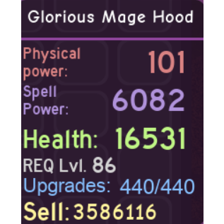 Other   Glorious Mage Hood DQ