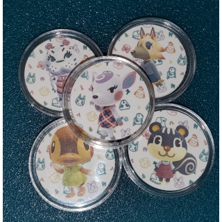 Animal Crossing Amiibo Coins Fully Functional 5 Coins
