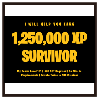 I will help you get Schematic, Survivor, Hero XP in Lv 100 Twine missions Fortnite Gig