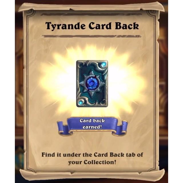 Code Tyrande Whisperwind Hero + Tyrande Cardback   Fast