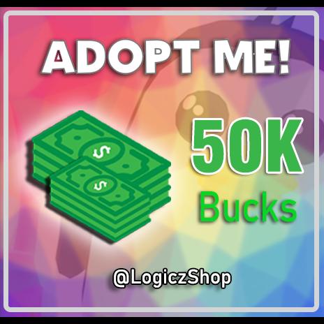 Bundle 50k Bucks Adopt Me In Game Items Gameflip