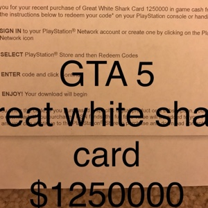 Shark card redeem codes ps4 | Redemption Instructions  2019-05-04