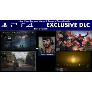Days Gone DLC Dynamic Theme Bundle | Spider Man DLC Exclusive Battle Theme |Area X Theme| PS4 US Instant Delivery