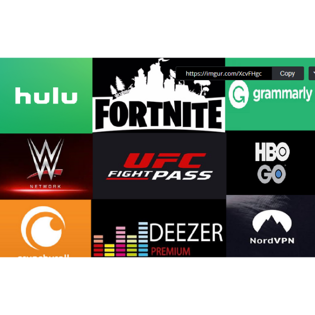 Win one of these accounts! Hulu Fortnite Grammarly WWE Ufc HBO Crunchyroll  Deezer NordVpn - Other - Gameflip