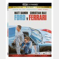 Actual code 4k/UHD MA Ford v Ferrari