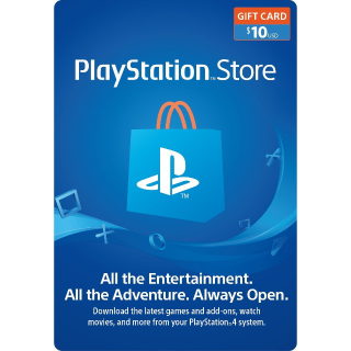 $10.00 PlayStation Store - INSTANT DELIVERY