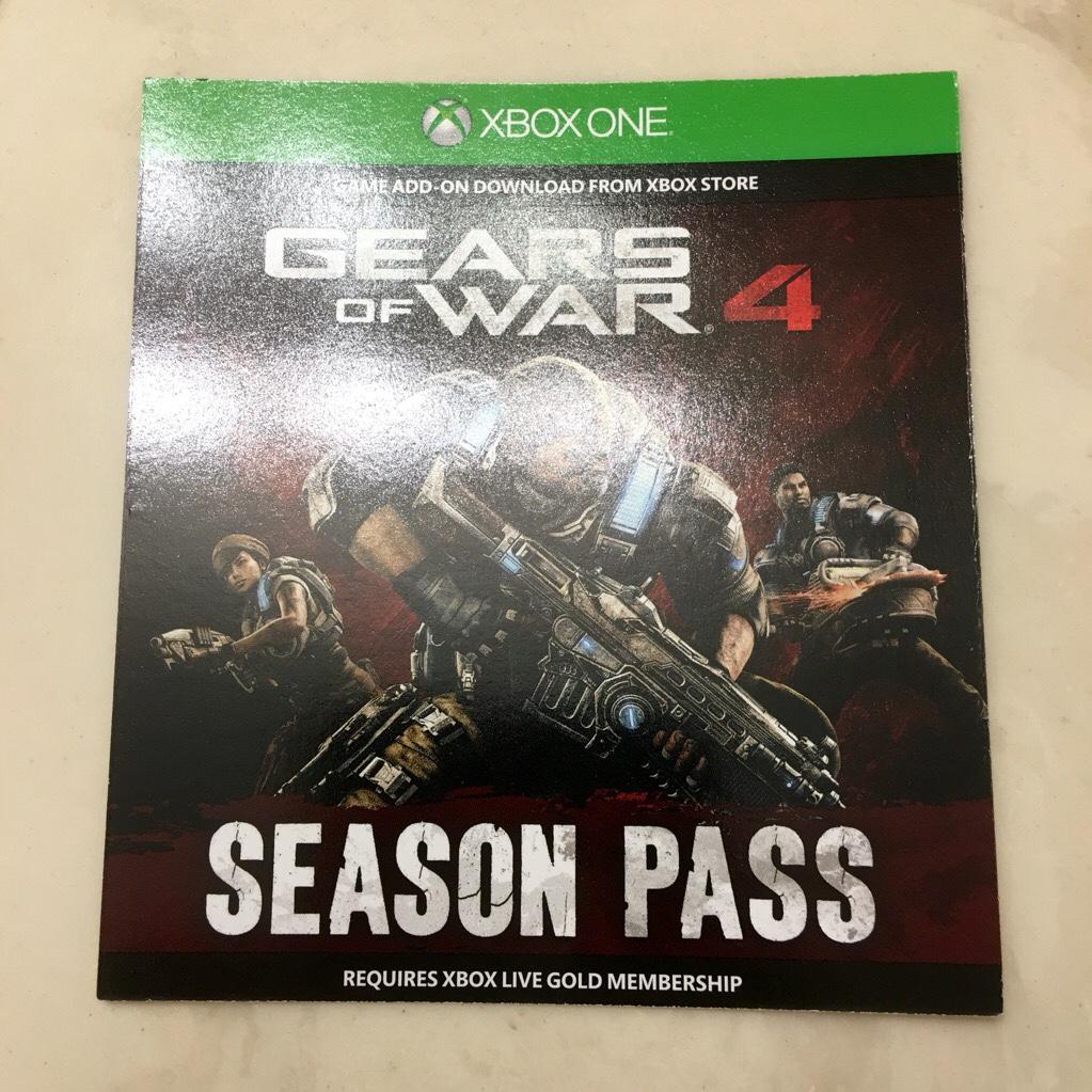 GEARS OF WAR 4 SEASON PASS!!! NEW, UNUSED DLC CODE