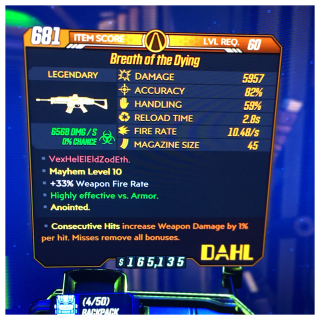 Weapon | breath of the dying 1%