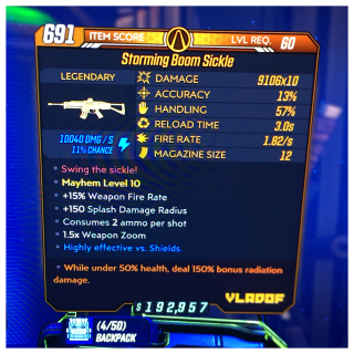 Weapon | boom sickle 50/150 ⚡️