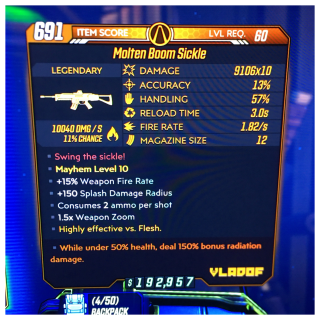 Weapon | boom sickle 50/150 🔥