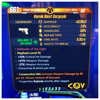 Weapon | gargoyle x3 1%