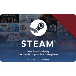 5 EUR Steam Wallet Card Global Instant Delivery