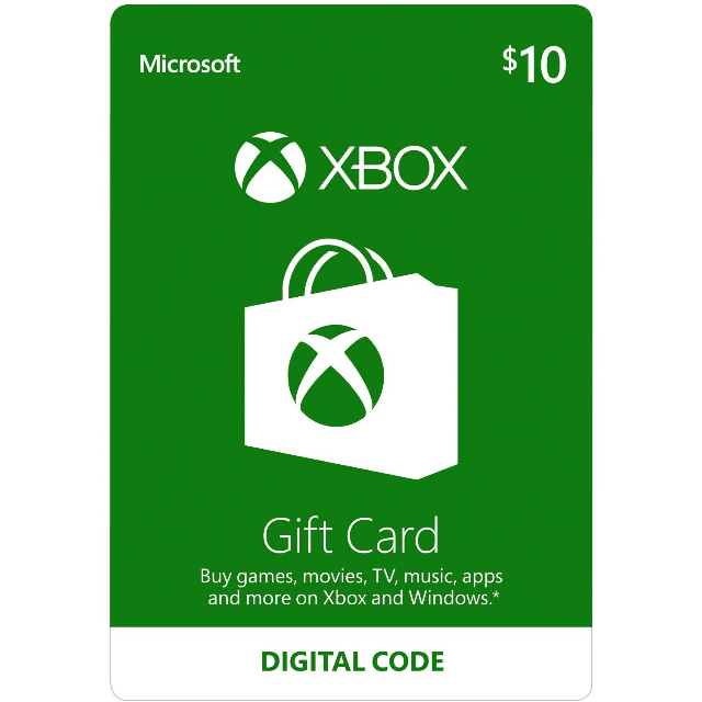 $10 Xbox Gift Card USA (Instant Delivery)