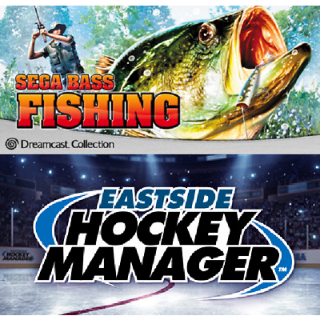 Sega Bass Fishing + Eastside Hockey Manager - [INSTANT DELIVERY]