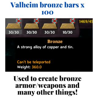 Valheim bronze bars x 100