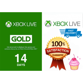 Xbox Live Gold 14 Days Global | Fast Shipping