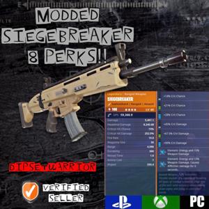 Siegebreaker | 🚨8 PERK MODDED DOUBLE ENERGY🚨
