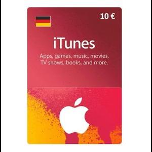 €10.00 iTunes TUNES GIFT CARD 10 EUR DE (GERMANY)