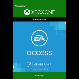 EA ACCESS 12 Months / 365 Days(XBOX ONE/REGION FREE)