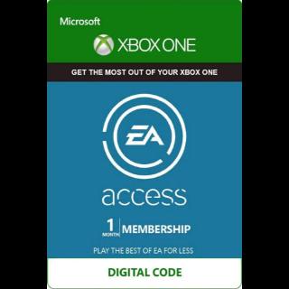 EA ACCESS XBOX 1 Month / 30 Days (Region Free)