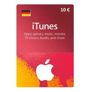 €10.00 iTunes TUNES GIFT CARD 10 EUR DE (GERMANY)