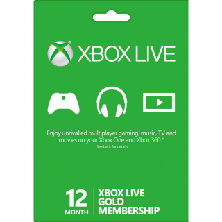 XBOX LIVE GOLD - 12 Months [INSTANT]