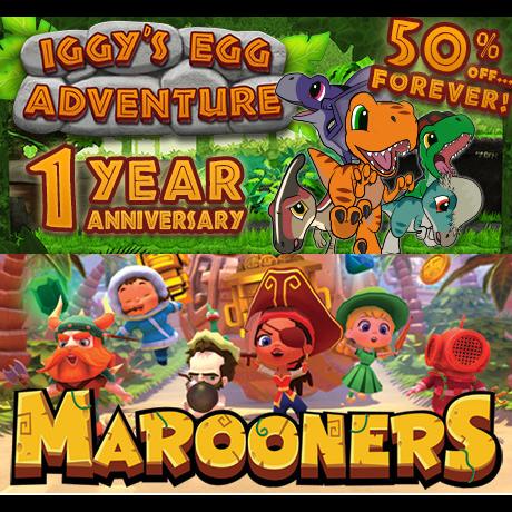Marooners + Iggys Egg Adventure - Steam Games - Gameflip