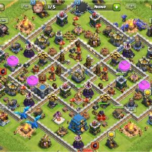 Clash of clans farming for 1 month