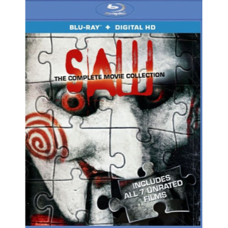 Saw: The Complete Movie Collection (HD Digital Code Only) All 7 Movies included