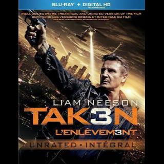 Taken 3 HD Digital Code Only – Vudu/iTunes