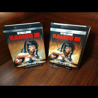 Rambo 3 4K HD Digital Code Only – Vudu/iTunes/GooglePlay/Fandango