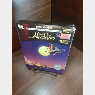 Disney's Aladdin 1992 4K Digital Code – Movies Anywhere/Vudu  (Full Code including Disney Reward Points)