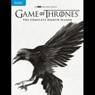 Game of Thrones - Seasons 8 (HD) Vudu Digital Code Only