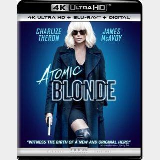 Atomic Blonde 4K HD iTunes Digital Code Only - Redeems on iTunes