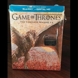 Game of Thrones - 6 Seasons (HD) Google Play Digital Code Only