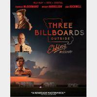 Three Billboards outside Ebbing Missouri HD Digital Code Only – MoviesAnywhere