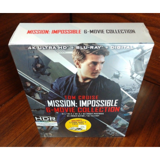 Mission Impossible - 6 Movie Collection (4KUHD) – iTunes Digital Code Only (Redeem on iTunes)